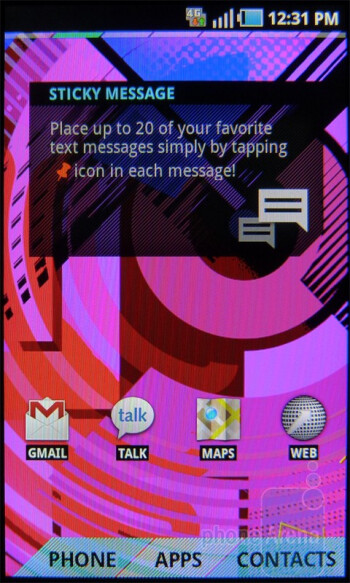 Sticky message - Messaging apps - T-Mobile Sidekick 4G Review