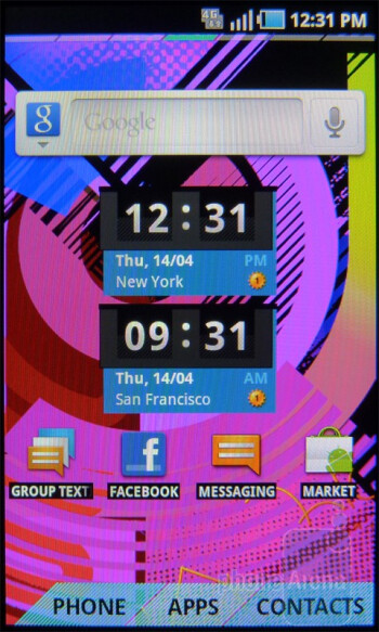 The T-Mobile Sidekick 4G packs a total of 7 homescreens - T-Mobile Sidekick 4G Review