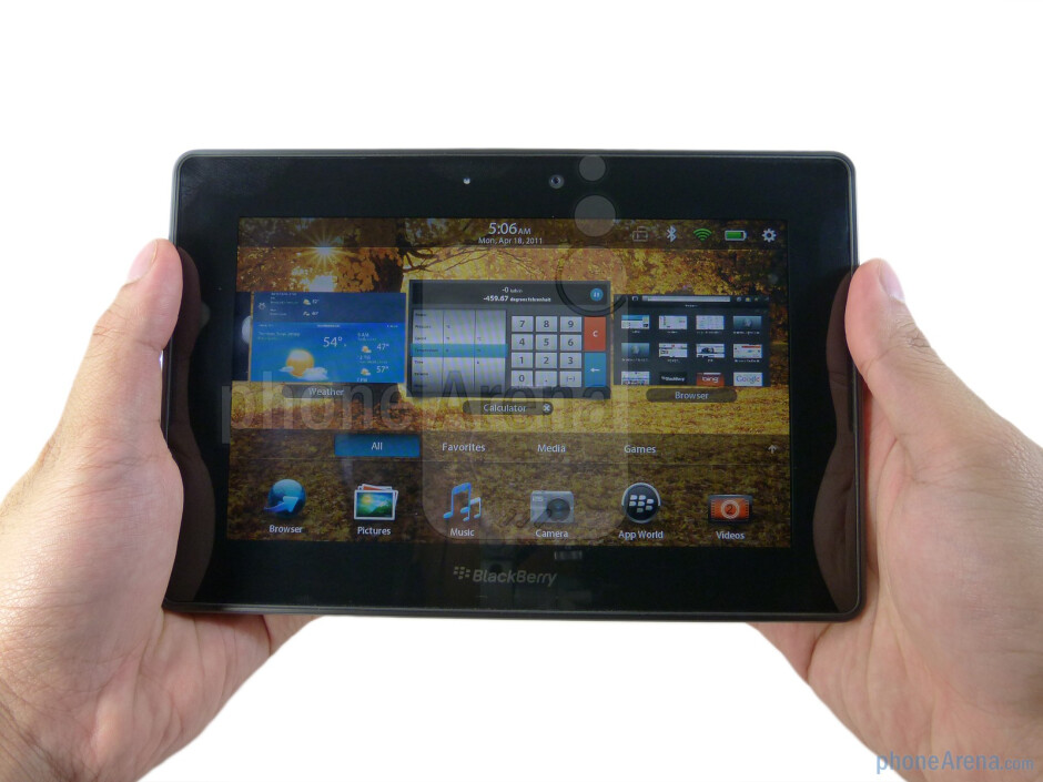 The RIM BlackBerry PlayBook is a decent looking tablet with straightforward design approach and solid construction - RIM BlackBerry PlayBook Review