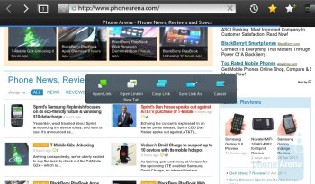 Surfing the web - RIM BlackBerry PlayBook Review