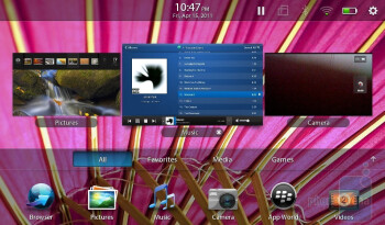 Bird's eye view of the apps - RIM BlackBerry PlayBook Review