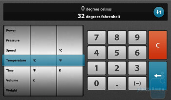 The calculator app of the RIM BlackBerry PlayBook - RIM BlackBerry PlayBook Review