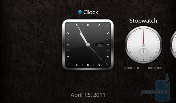 The clock app only provides a basic alarm clock, stopwatch, and timer - RIM BlackBerry PlayBook Review