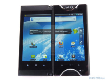 The phone has two 3.5 inch displays - Kyocera Echo Review