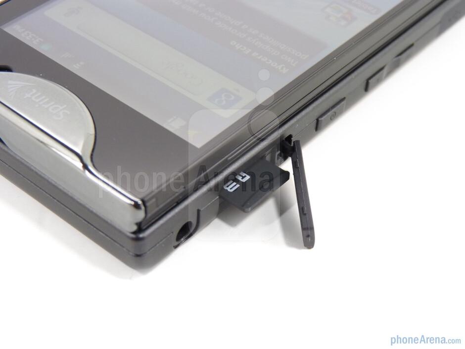 The microSD slot - Kyocera Echo Review