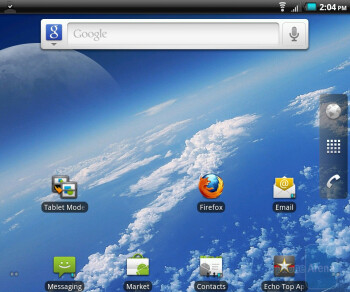 The homescreen of the Kyocera Echo - Kyocera Echo Review