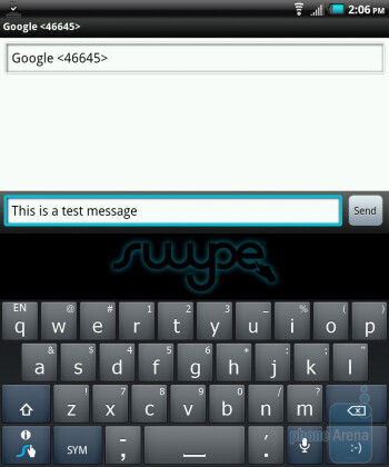 The Swype keyboard - The Simul-task applications allows you to use the two screens independently - Kyocera Echo Review