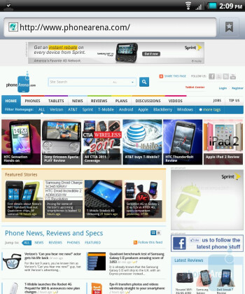 Web surfing with the Kyocera Echo - Kyocera Echo Review
