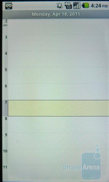 The Calendar app - T-Mobile G2x Review