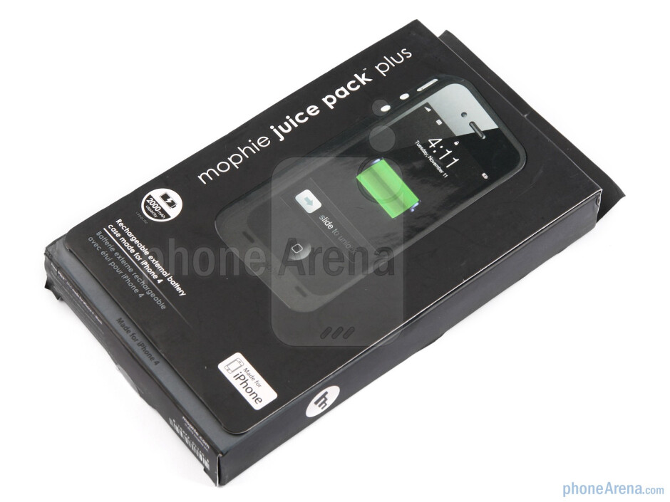 The Mophie Juice Pack Plus adds to the battery life of the Apple iPhone 4 - Mophie juice pack plus for iPhone 4 Review