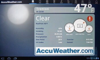 AccuWeather - T-Mobile G-Slate Review