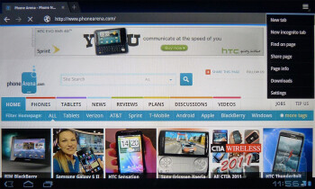 T-Mobile G-Slate - Web browsers - T-Mobile G-Slate vs BlackBerry PlayBook vs Apple iPad 2 vs Motorola XOOM