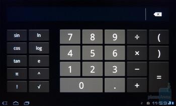 Calculator app - T-Mobile G-Slate Review