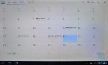 Calendar app - T-Mobile G-Slate Review