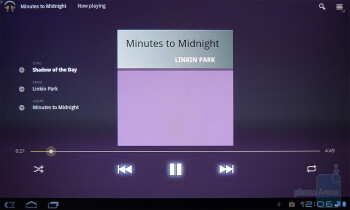 The music player of the T-Mobile G-Slate - T-Mobile G-Slate Review