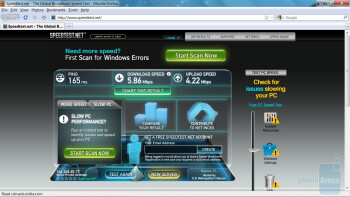 Test 3 - PC Web browser test - Novatel 4510L 4G MiFi for Verizon Wireless Review