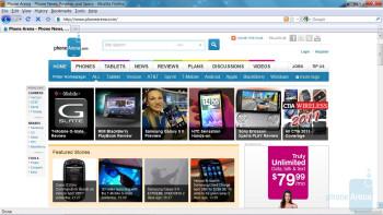 Web browser - PC Web browser test - Novatel 4510L 4G MiFi for Verizon Wireless Review