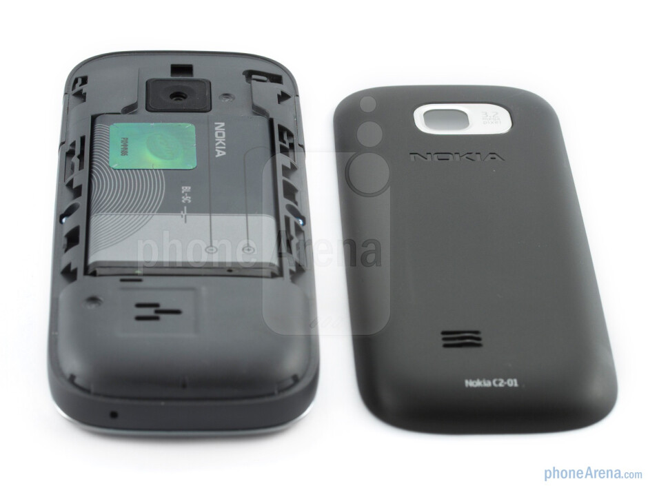 The back of the Nokia C2-01 - Nokia C2-01 Review