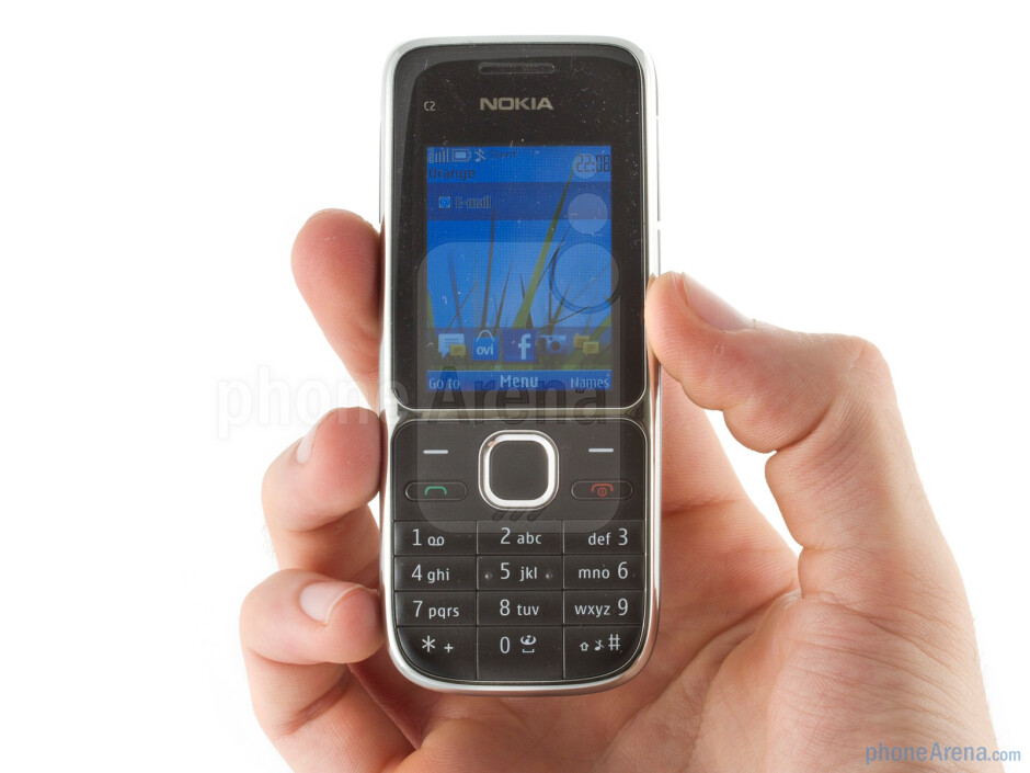 The Nokia C2-01 is an all plastic candybar handset - Nokia C2-01 Review