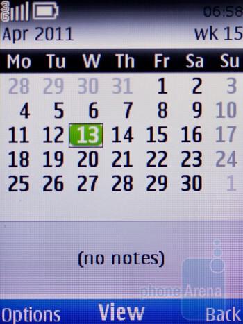 Calendar - Nokia C2-01 Review