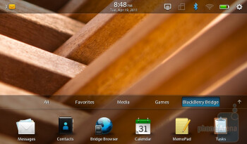 RIM BlackBerry PlayBook - Notifications systems - T-Mobile G-Slate vs BlackBerry PlayBook vs Apple iPad 2 vs Motorola XOOM