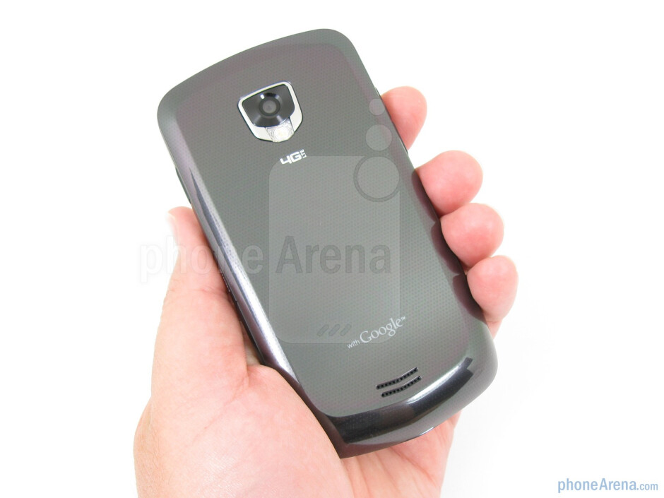 The Samsung Droid Charge has a plastic construction with chrome around the edges - Samsung Droid Charge Review