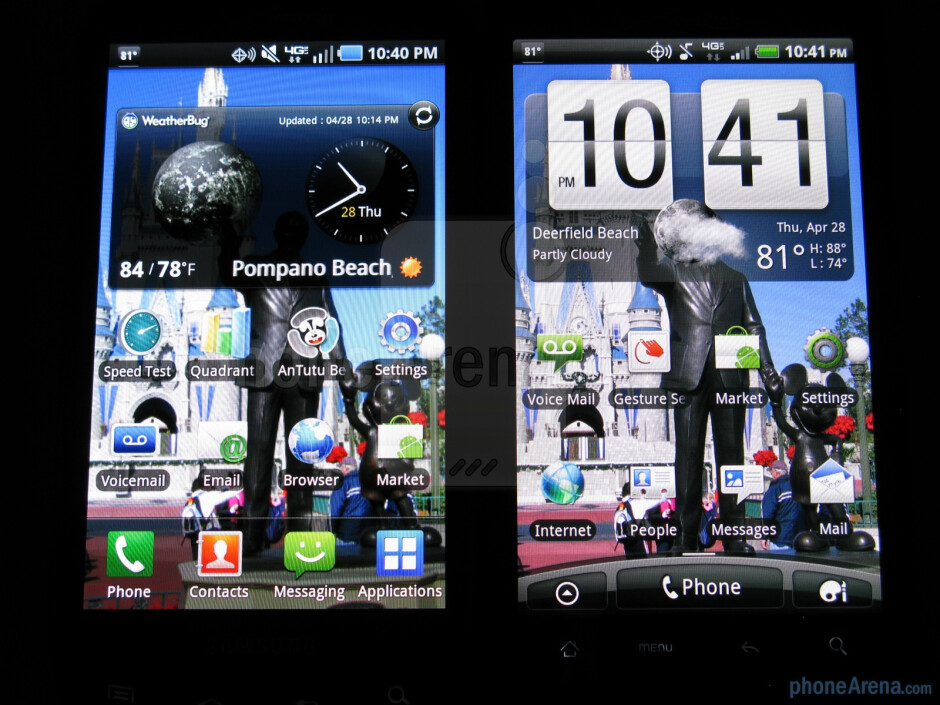 The Samsung Droid Charge (L) and the HTC ThunderBolt (R) - Samsung Droid Charge Review
