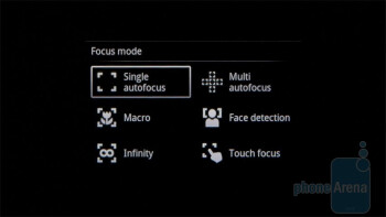 Camera interface - Sony Ericsson Xperia neo Review