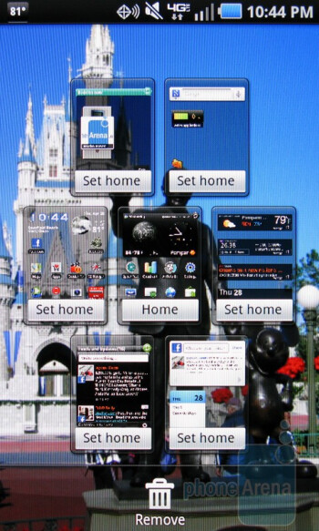 The homescreen of the Samsung Droid Charge - Samsung Droid Charge Review