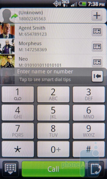 Dialer - HTC DROID Incredible 2 Review