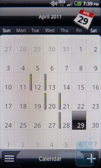 Calendar - HTC DROID Incredible 2 Review