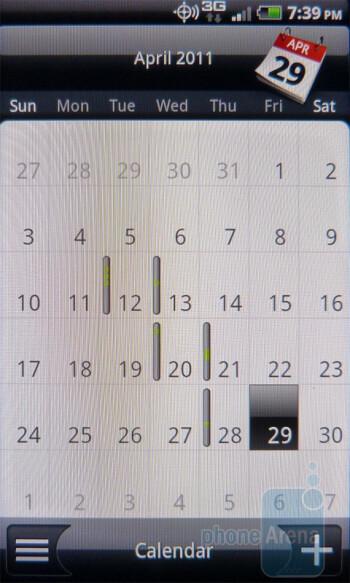 Calendar - HTC DROID Incredible 2 Review