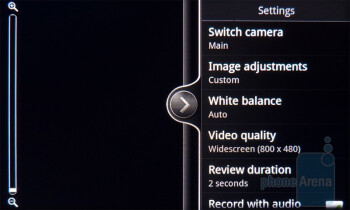 Camera interface - HTC DROID Incredible 2 Review