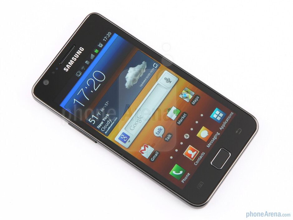 The front of the Samsung Galaxy S II - Samsung Galaxy S II Review