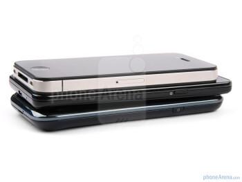 Apple iPhone 4 (left, top), Samsung Galaxy S II (center),Samsung Galaxy S (right, bottom) - Samsung Galaxy S II Review