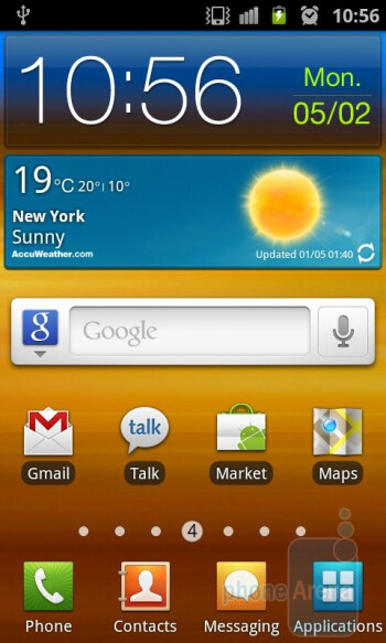 The Samsung Galaxy S II is loaded with Gingerbread - Samsung Galaxy Nexus vs Samsung Galaxy S II