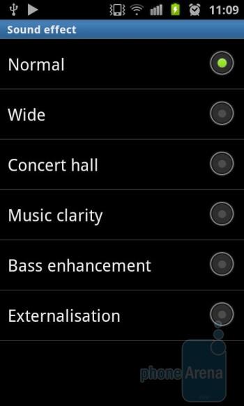 The Music player of Samsung Galaxy S II - HTC Sensation vs Samsung Galaxy S II