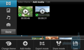 Video maker - Samsung Galaxy S II Review