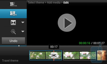 The video editor of Samsung Galaxy S II - HTC Sensation vs Samsung Galaxy S II