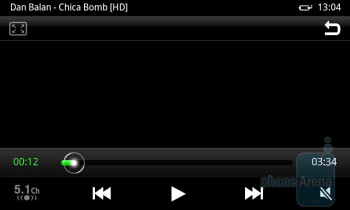 The video player interface - Samsung Galaxy S II Review