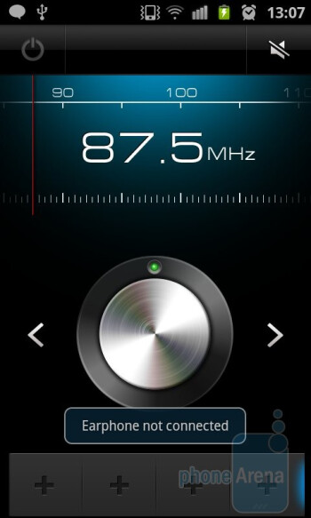 The FM radio - Samsung Galaxy S II Review