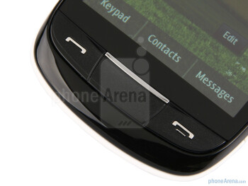Physical buttons - The Samsung Corby II has a 3.14-inch capacitive LCD screen - Samsung Corby II Review