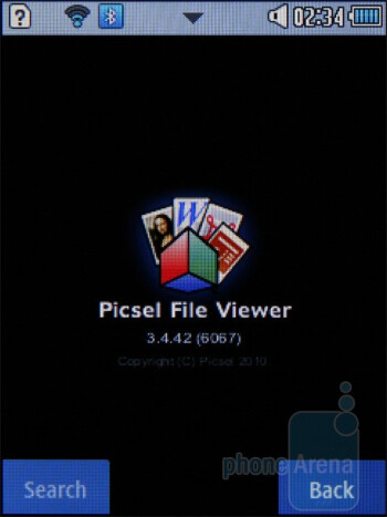 Picsel File Viewer - Samsung Corby II Review