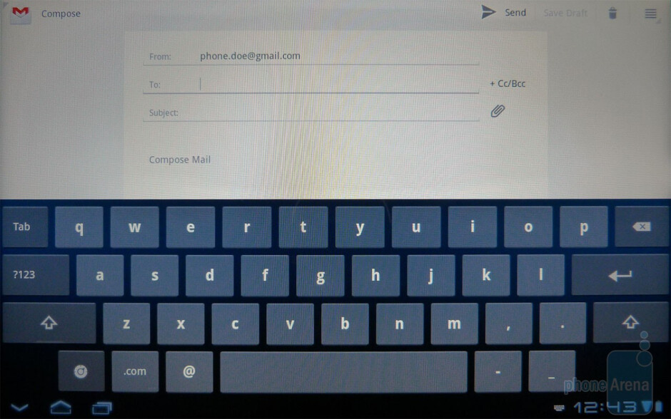 The on-screen keyboards of the Acer ICONIA TAB A500 - Acer ICONIA TAB A500 Review