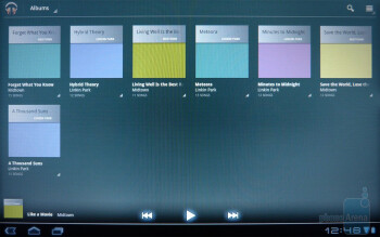 The music player of the Acer ICONIA TAB A500 - Acer ICONIA TAB A500 Review