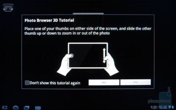 Photo Browser 3D app - Acer ICONIA TAB A500 Review