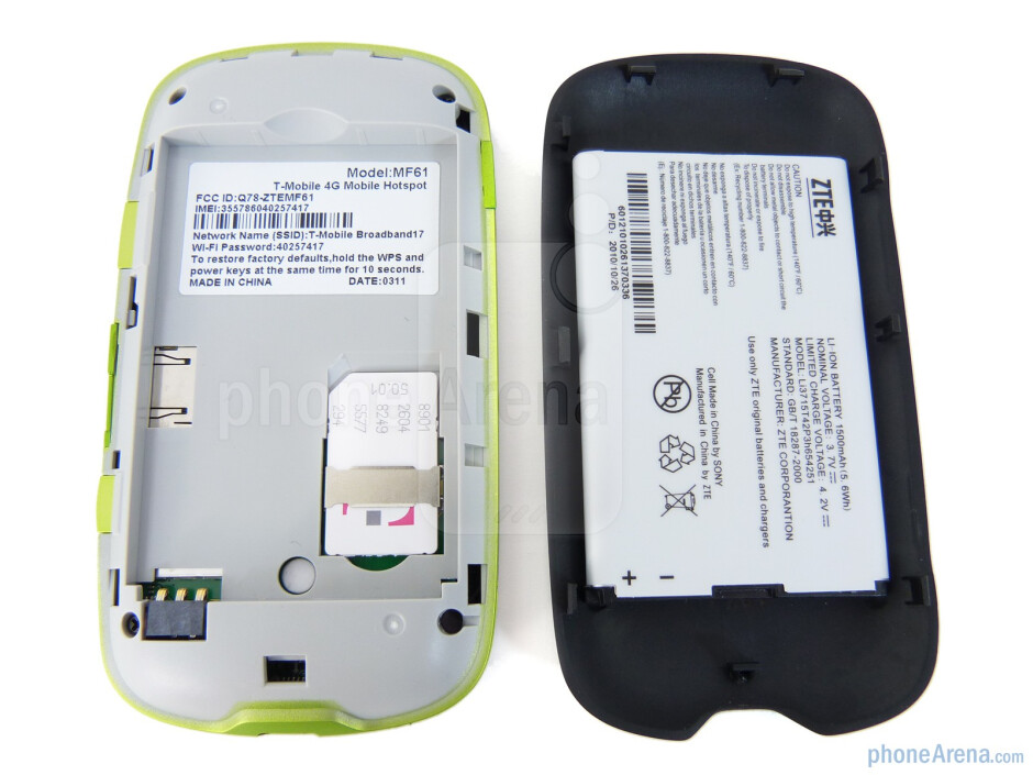 The back of the T-Mobile 4G Mobile Hotspot - T-Mobile 4G Mobile Hotspot Review