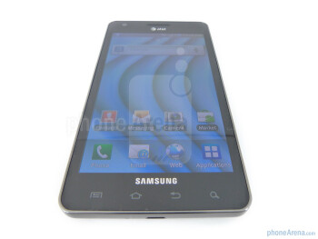 "The Samsung Infuse 4G  flaunts a 4.5"" WVGA Super AMOLED Plus display - Samsung Infuse 4G Review"