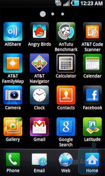 Main menu - Personalization is plentiful and abundant with  the Samsung Infuse 4G - Samsung Infuse 4G Review