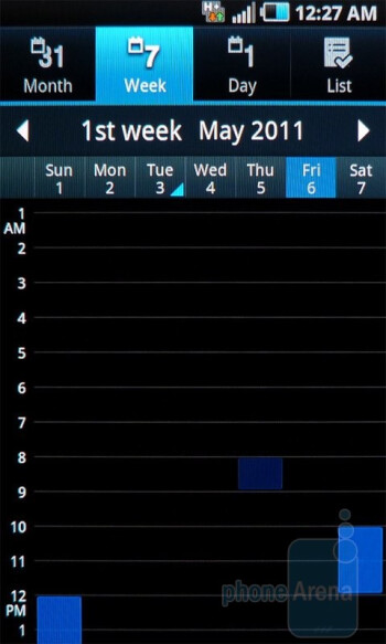 Calendar - Samsung Infuse 4G Review